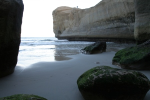View from tunnel beach looking out at the cliffs. (2)